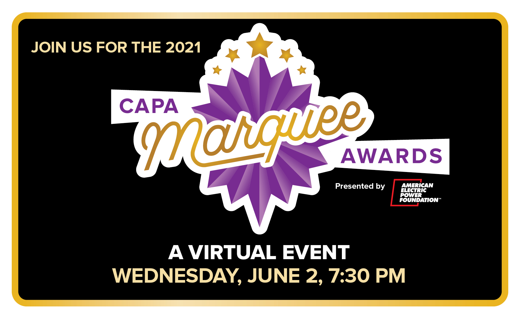 More Info for 2021 CAPA Marquee Awards