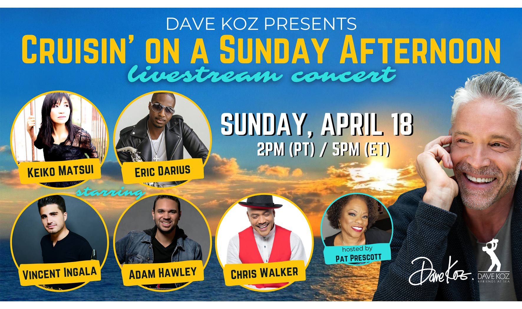 More Info for Dave Koz presents Cruisin' on a Sunday Afternoon